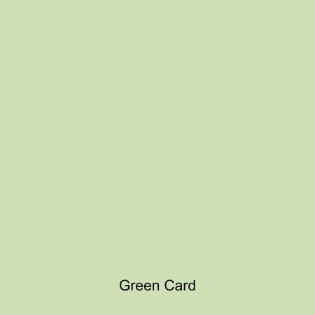 Green coloured card