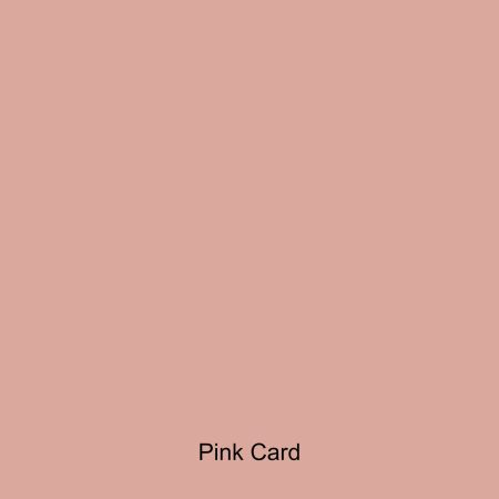 Pink coloured card