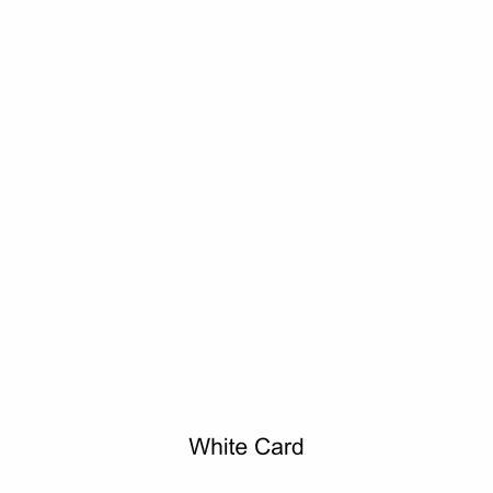 White coloured card