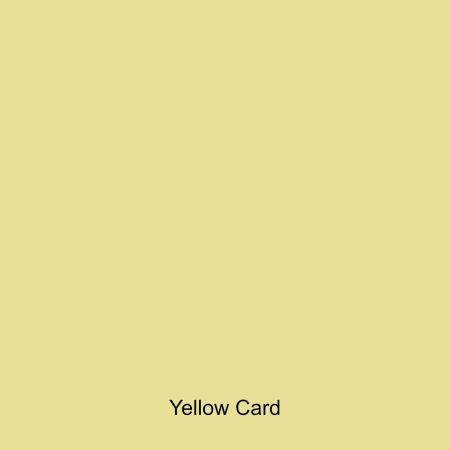 Yellow coloured card